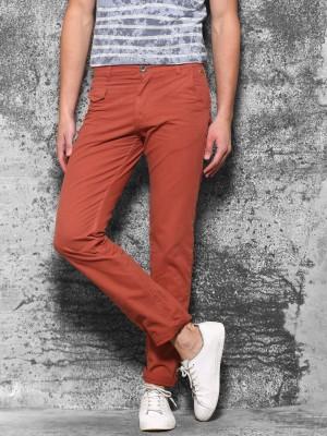 WROGN Slim Fit Men's Red Trousers