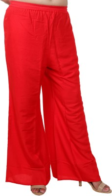 Excellent4U Regular Fit Women's Red Trousers