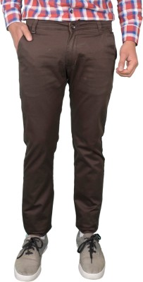 Made In The Shade Slim Fit Men's Brown Trousers