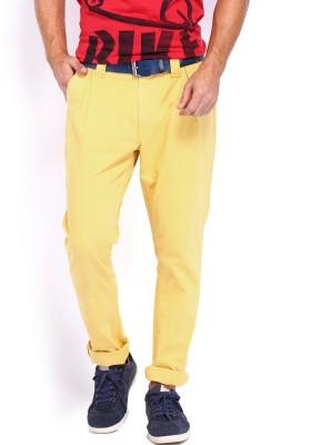 Kook N Keech Disney Slim Fit Men's Yellow Trousers