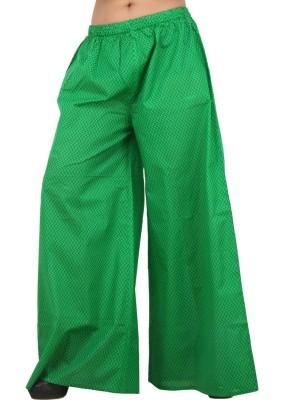 Pujarika Regular Fit Women's Green Trousers