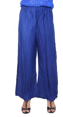 A33STORE Regular Fit Women's Blue Trousers