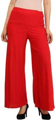 Esszee Regular Fit Women's Red Trousers