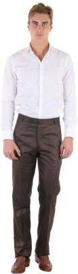 Coaster Slim Fit Men's Brown Trousers
