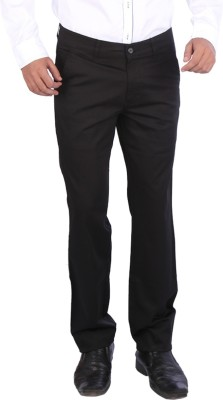 Appollo Slim Fit Men's Black Trousers