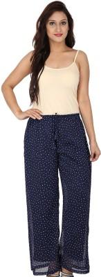 Dieu Regular Fit Women's Blue, White Trousers