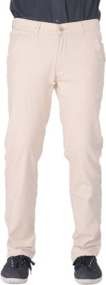 AUSSUM Regular Fit Men's White Trousers