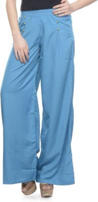 Mayra Regular Fit Women's Light Blue Trousers