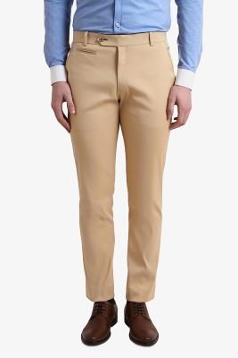 Alvin Kelly Slim Fit Men's Beige Trousers