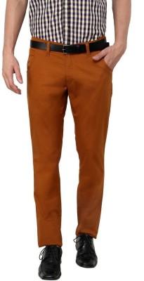 Zaab Slim Fit Men,s Gold Trousers