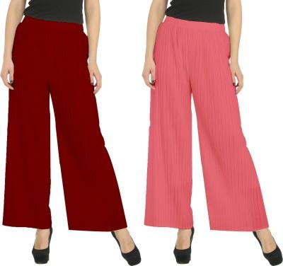 Civilized Showdown Regular Fit Women's Maroon, Pink Trousers