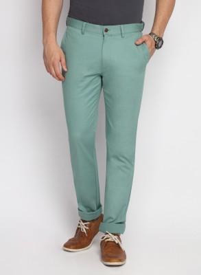 SUITLTD Skinny Fit Men's Green Trousers