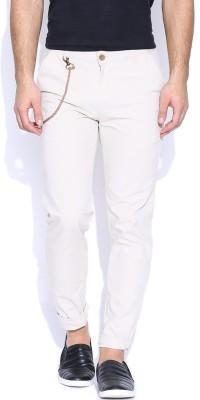 Hubberholme Slim Fit Men's Cream Trousers