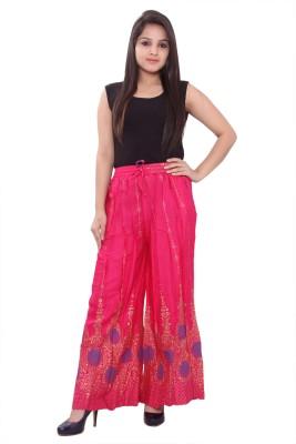 Razio Regular Fit Women's Pink Trousers
