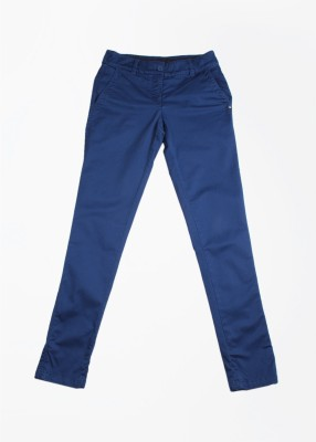 Puma Slim Fit Women's Blue Trousers at flipkart
