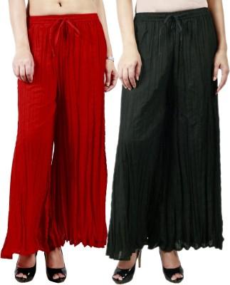 Haniya Regular Fit Women's Black, Red Trousers