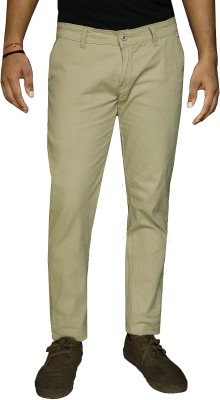 DAMLER Slim Fit Men's Cream, Yellow Trousers