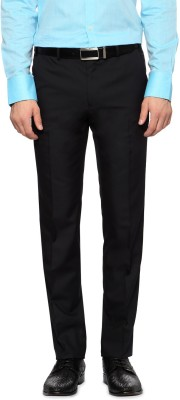 Van Heusen Slim Fit Men's Black Trousers