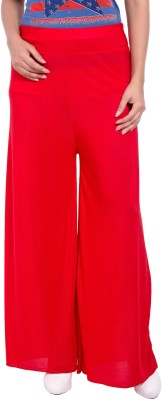 diva boutique Regular Fit Women's Red Trousers
