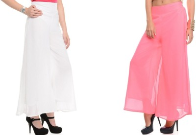 Kyron Regular Fit Women,s White, Pink Trousers