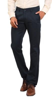 Bottoms Slim Fit Men's Blue Trousers