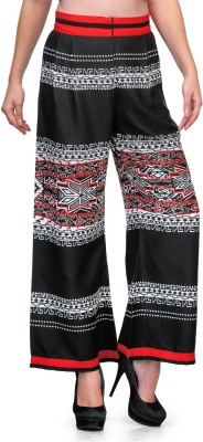 Natty India Regular Fit Women's Black, Red Trousers