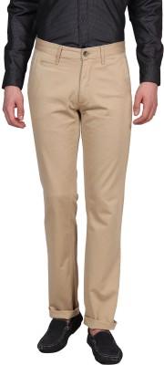 Urban Nomad By INMARK Slim Fit Men's Beige Trousers