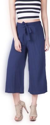 Zink London Women's Blue Trousers at flipkart
