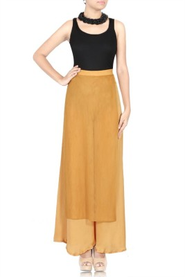 TheHLabel Regular Fit Women's Gold Trousers
