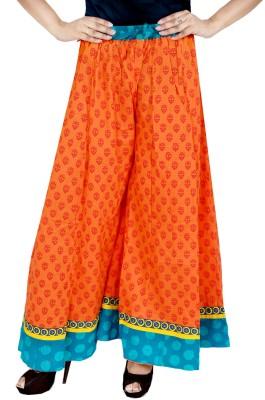 Rangreja Regular Fit Women's Orange Trousers
