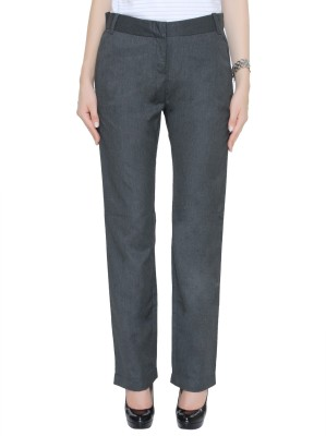 Bedazzle Regular Fit Women's Black Trousers