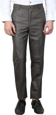 MAGNOGUY Slim Fit Men's Brown Trousers