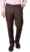 Modo Regular Fit Mens Brown Trousers