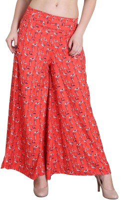 Kannan Regular Fit Women's Red Trousers at flipkart