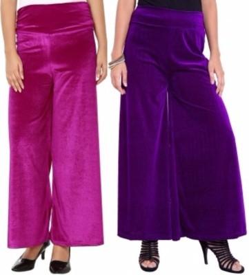 Viba London Regular Fit Women's Pink, Purple Trousers