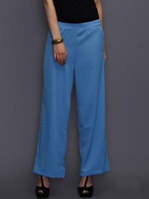 Anouk Regular Fit Women's Blue Trousers