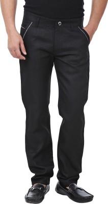 Adhaans Slim Fit Men's Black Trousers
