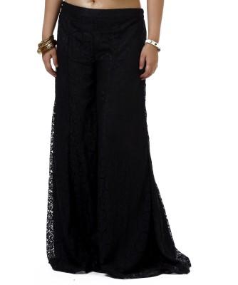 Dhavani Regular Fit Women's Black Trousers