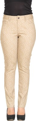 Rute Slim Fit Women's Beige Trousers