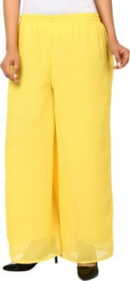 Haniya Regular Fit Women's Yellow Trousers