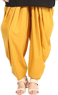 DESIGN HOUSE Regular Fit Women's Yellow Trousers
