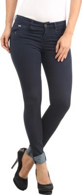 Lotus Skinny Fit Women's Dark Blue Trousers