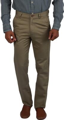 Cotton colors Regular Fit Men's Beige Trousers