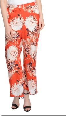 Nangalia Ruchira Regular Fit Women's Red Trousers