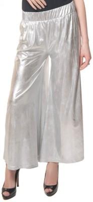 Desi Fusion Regular Fit Women's Silver Trousers