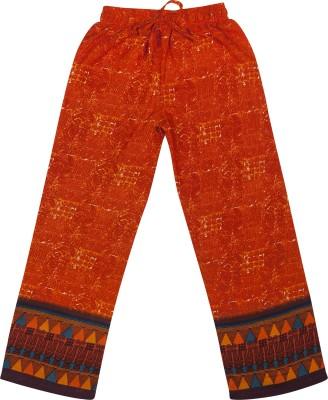Hunny Bunny Regular Fit Girl's Orange Trousers