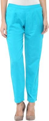 Libas Regular Fit Women's Light Blue Trousers at flipkart