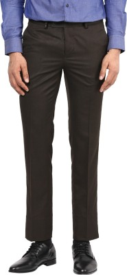 London Bridge Slim Fit Men's Brown Trousers