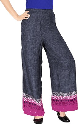 Khushali Regular Fit Women's Black, Pink Trousers
