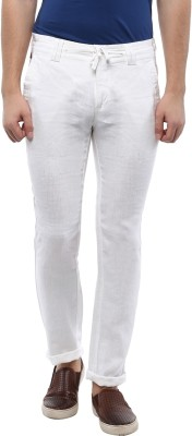 Turtle Slim Fit Men,s White Trousers